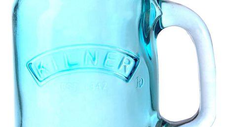 KILNER Sklenice s uchem Blue 400 ml, modrá barva, sklo