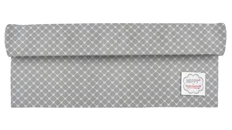 Krasilnikoff Běhoun na stůl Hearts grey diagonal, šedá barva, textil