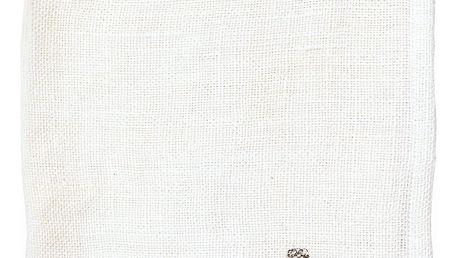 GREEN GATE Látkový ubrousek Heavy linen white, bílá barva, textil