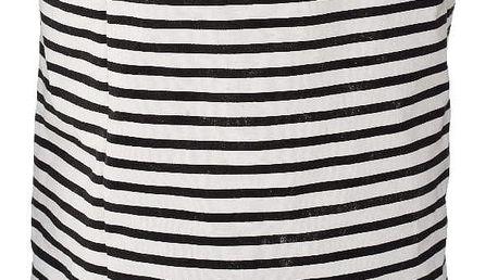 Černo-bílý pruhovaný koš na prádlo Premier Housewares Stripe, 69 l