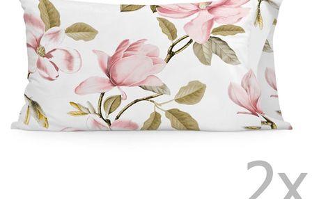 Sada 2 bavlněných povlaků na polštář Happy Friday Magnolia,50x80cm