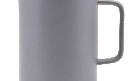 House Doctor Porcelánová kávová konvice French press Grey, šedá barva, zlatá barva, kov, porcelán