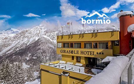 5denní Bormio se skipasem – březnové termíny | Hotel Girasole*** přímo u lanovky | Doprava, ubytování, polopenze a skipas