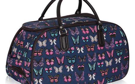 Dámská cestovní taška Butterfly 308A námořnicky modrá