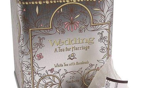 HARNEY & SONS Bílý čaj Wedding, stříbrná barva, kov
