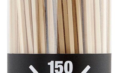 Nicolas Vahé Bambusové jehly Skewer 150 ks, hnědá barva, dřevo