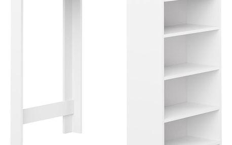Bílý barový stůl s hnědou deskou Symbiosis Auguste