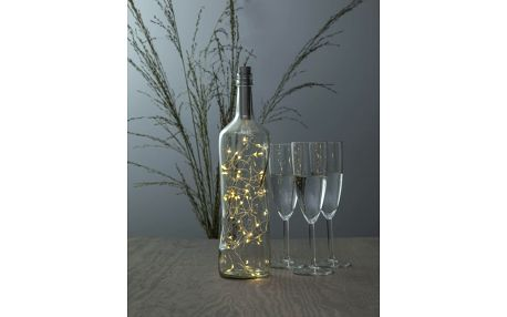 STAR TRADING LED drátek Dew Drop silver, plast