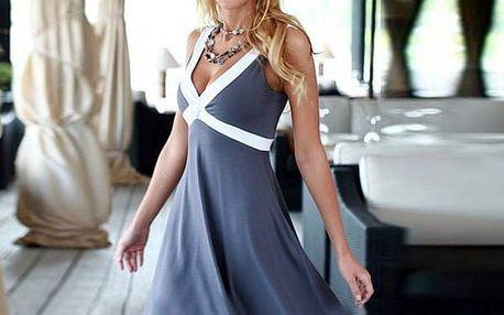 Dámské šaty s bílými ramínky