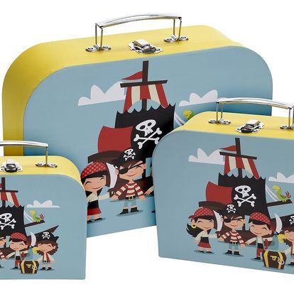 Sada dětských kufrů Pirate, 3 ks