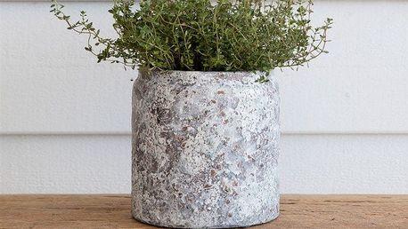 Garden Trading Květináč Withington Pot, modrá barva, šedá barva, bílá barva, keramika