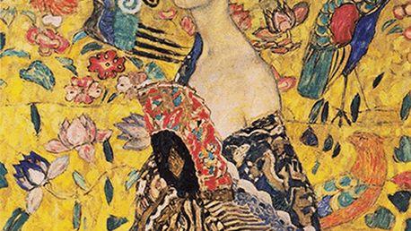 Reprodukce obrazu Gustav Klimt Lady With Fan, 70x70cm