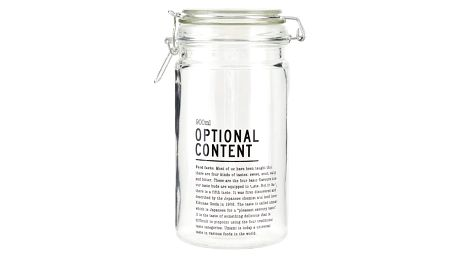 House Doctor Skleněná dóza Optional Content 900 ml, čirá barva, sklo