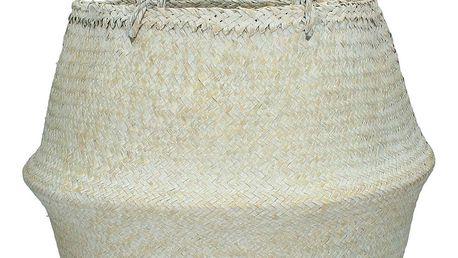Bílý ručně pletený koš z mořské trávy HF Living, ⌀ 35 cm