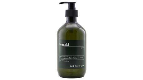 meraki Sprchový gel na vlasy a tělo Men 490ml, zelená barva, plast