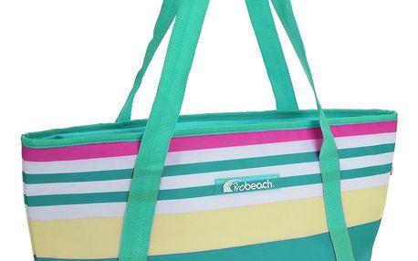 Chladicí taška pruhovaná, zelená