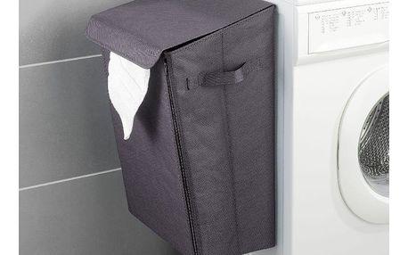 Šedý závěsný koš na prádlo Wenko Turbo-Loc, 46,3 l