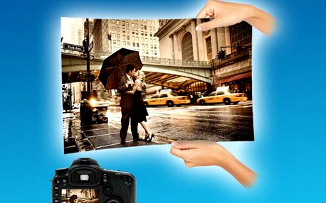 10 velkoformátových fotek ve formátu A4 nebo A3
