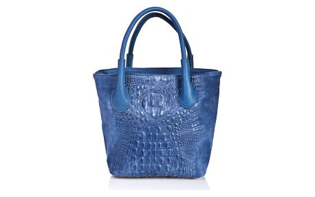 Modrá kožená kabelka Massimo Castelli Laurita