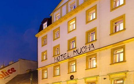 Pobyt pro dva v Hotelu Mucha**** v centru Prahy se snídaní.