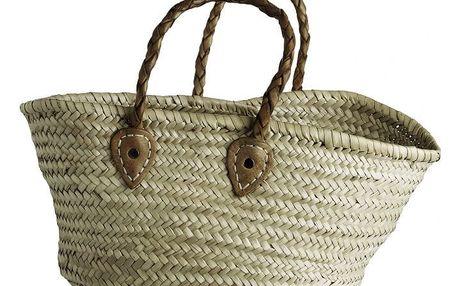 Tine K Home Slaměná taška Tine K Mini, žlutá barva, proutí, kůže
