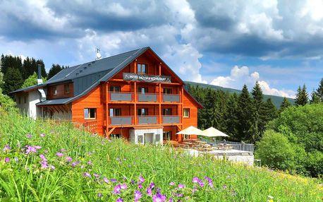Krásný horský hotel: polopenze a dítě zdarma