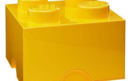 Žlutý úložný box čtverec LEGO®