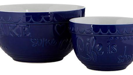 Sada 2 modrých kameninových misek Premier Housewares