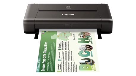 Tiskárna inkoustová Canon PIXMA iP110 (A4, 9str./min, 5str./min, 9600 x 2400, WF, USB) (9596B009AA)