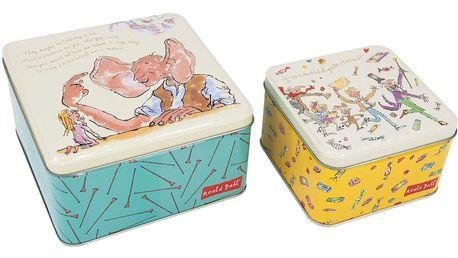 Sada 2 kovových krabiček Roald Dahl by Portico Designs