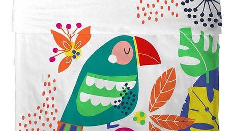Přehoz a povlak na polštář Moshi Moshi Pretty Parrots, 100x135cm