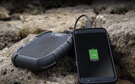 Odolná černá nabíječka na cesty Veho Pebble Endurance Powerbank 10 Pro, 15000mAh