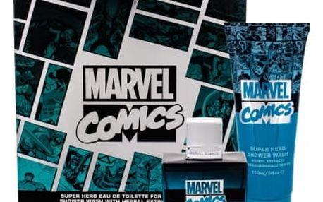 Marvel Comics Hero dárková kazeta pro děti toaletní voda 75 ml + sprchový gel 150 ml