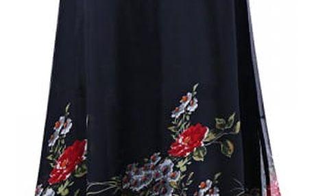 Květinové šaty Amie v nadměrných velikostech
