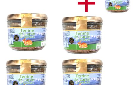 Králičí terina s rozmarýnem Le goût du terroir 180 g 4+1 ZDARMA