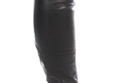 Modern World Mušketýrky dámské kozačky nad kolena vysoký podpatek