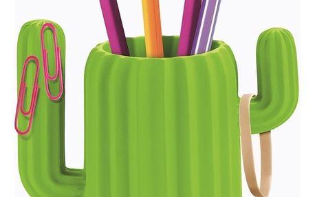 Zelený stojan na tužky Just Mustard Cactus