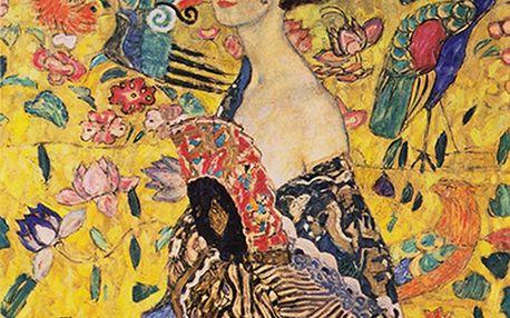 Reprodukce obrazu Gustav Klimt - Lady with Fan, 60 x 60 cm