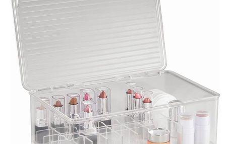 Organizér InterDesign Clarity Lipstick & Cosmetic Box, 27,5 x 18,5 x 9,5cm