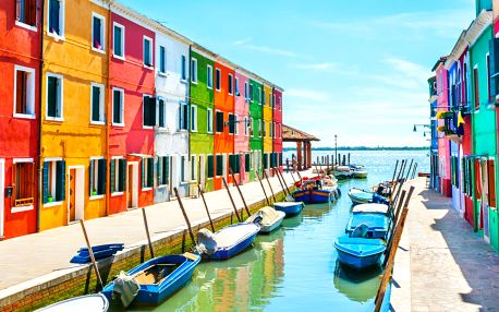 Benátky s návštěvou ostrovů Murano a Burano
