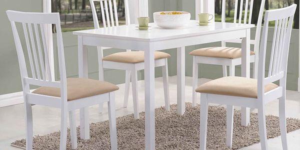 Jídelní stůl FIORD bílý 110x702