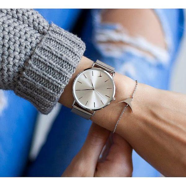 Dámské hodinky s páskem z nerezové oceli ve stříbrné barvě Emily Westwood Top4