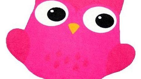 Dětský fuchsiově růžový koberec Zala Living Owl, 66x66cm