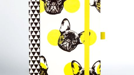 Zápisník s motivem psů Just Mustard Dog
