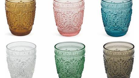 Sada 6 barevných sklenic Villa d'Este Imperial Bicchieri, 240 ml