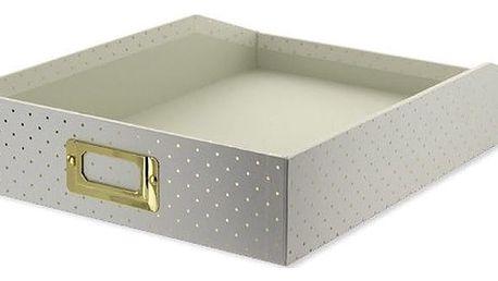 Pořadač na dokumenty Go Stationery Gold Polka Cream, malý