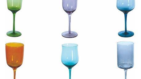 Sada 6 barevných sklenic na víno Villa d'Este Cromia Calici, 420 ml