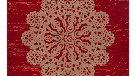 Červený koberec Hanse Home Gloria Lace, 120x170cm