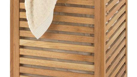 Koš na prádlo z ořechového dřeva Wenko Laundry Bin Norway, 65l