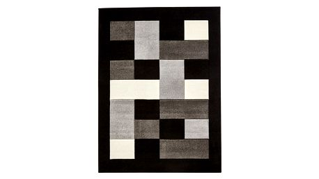 Šedočerný koberec Think Rugs Matrix, 80x150cm